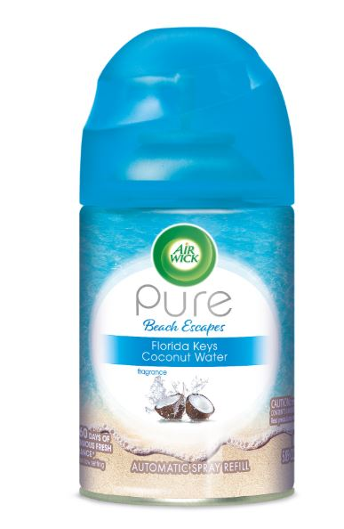 Air Wick Automatic Spray - Pure Beach Escapes Florida Keys Coconut Water 5.89 oz